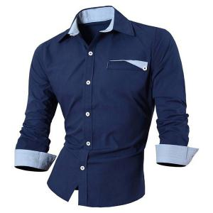 Hot Sale unique poitrine Turn Down Collar Shirt Pour Hommes -