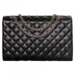 Vintage Black Color and Checked Design Crossbody Bag For Women -