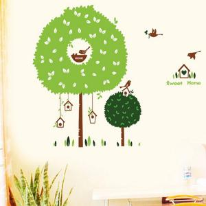Fashion Tree House Pattern Wall Sticker For Bedroom Livingroom Decoration -