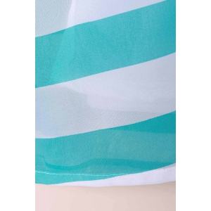 Casual Scoop Collar Sleeveless Color Block Striped Women's Sundress - BLUE AND WHITE XL