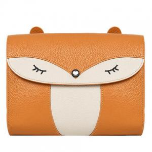 Casual Cover and Color Block Design Crossbody Bag For Women