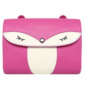 Casual Cover and Color Block Design Crossbody Bag For Women - Rose - 36
