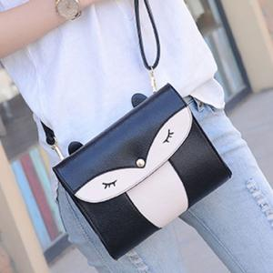 Casual Cover and Color Block Design Crossbody Bag For Women -