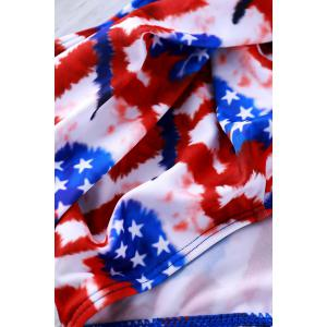 Sexy Halter   American Flag Print Bikini Set For Women -