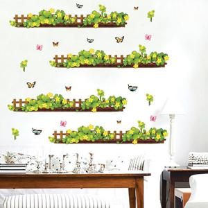 Fashion Plants Fence Pattern Baseboard Wall Sticker For Bedroom Livingroom Decoration -