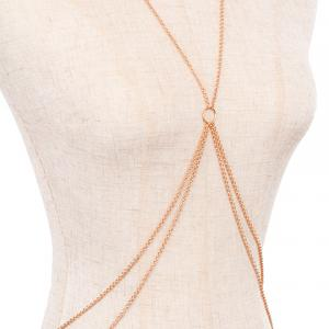 Golden Multi-Layered Beach Cross Body Jewelry -