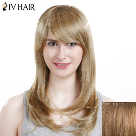 Shops Charming Siv Hair Side Bang Curly Women's Human Hair Wig