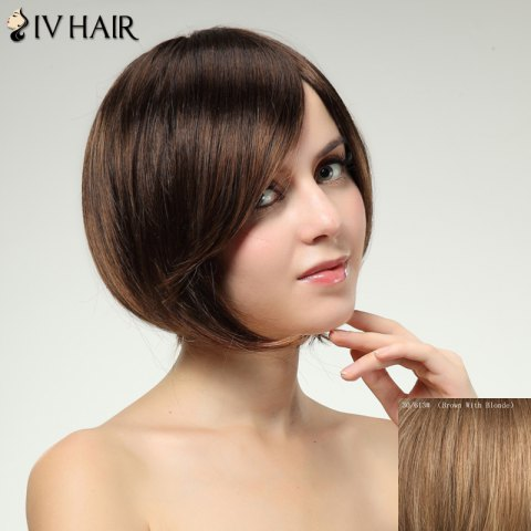 Affordable Charming Siv Hair Side Bang Straight Women's Human Hair Wig