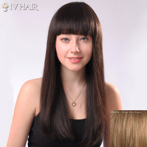 Hot Ladylike Siv Hair Neat Bang Straight Women's Human Hair Wig