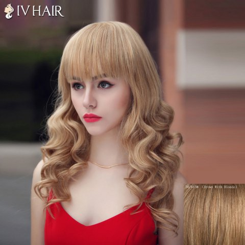 Sale Fashion Siv Hair Long Curly Full Bang Human Hair Wig For Women