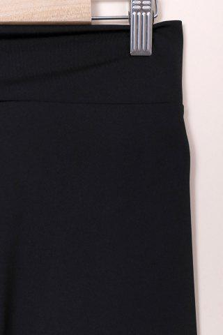 Fancy Active High-Waisted Solid Color Skinny Women's Pants - S BLACK Mobile