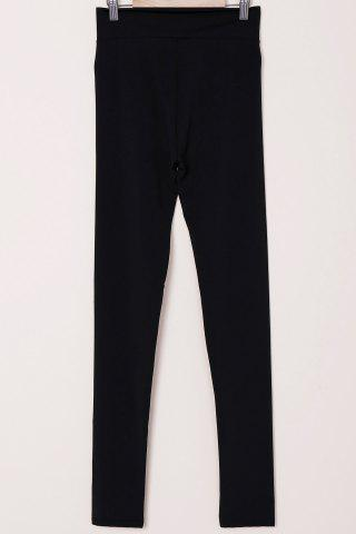 Outfits Active High-Waisted Solid Color Skinny Women's Pants - S BLACK Mobile