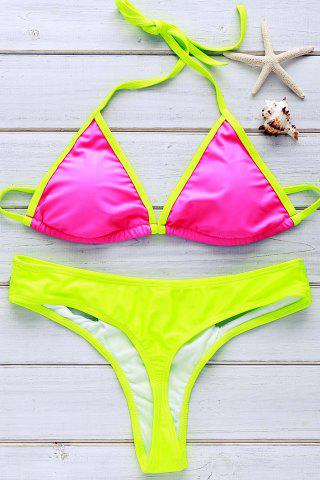 Fancy Sexy Round Neck Short Sleeve Hollow Out Three Piece Swimsuit For Women