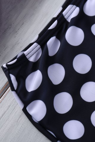 Store Bustier Bikini Top and Polka Dot High Waisted Bottoms - XL AS THE PICTURE Mobile