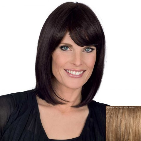Buy Bob Style Medium Straight Side Bang Human Hair Wig