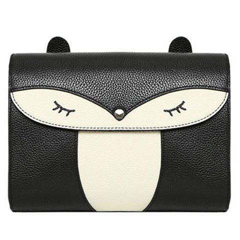 Hot Casual Cover and Color Block Design Crossbody Bag For Women - BLACK  Mobile