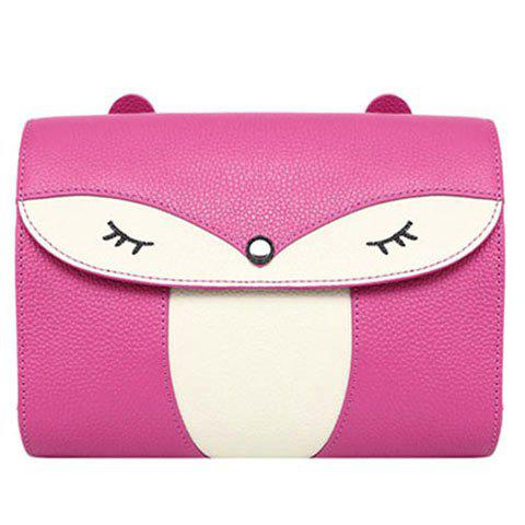 Best Casual Cover and Color Block Design Crossbody Bag For Women - ROSE  Mobile
