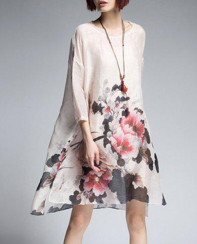 Sale Floral Print Dress with Cami Dress