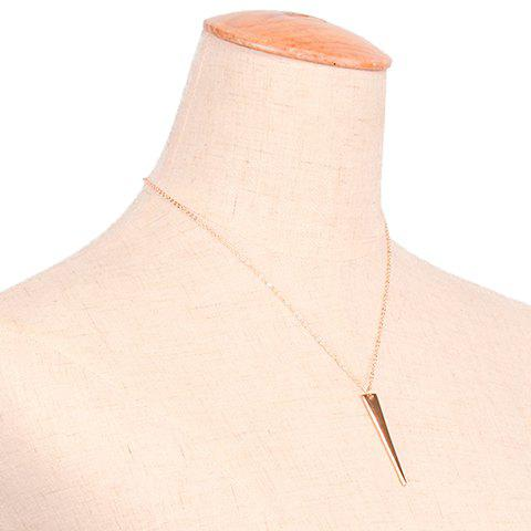 Cheap Chic Triangle Sequin Necklace For Women GOLDEN