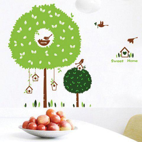 Hot Fashion Tree House Pattern Wall Sticker For Bedroom Livingroom Decoration