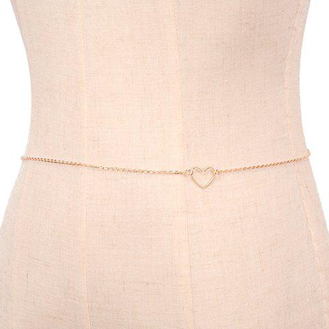 Latest Simple Heart Body Chain SILVER