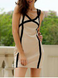 Sweetheart Neck Bandage Bodycon Straps Dress - COLORMIX