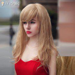 Fluffy Siv Hair Long Curly Oblique Bang Human Hair Wig For Women -