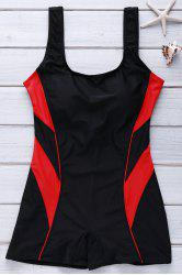 Active U Neck Color Block One-Piece Swimsuit For Women