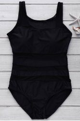 Sexy Scoop Neck Sleeveless Siamesed Solid Color Hollow-Out Design Women's Swimwear -