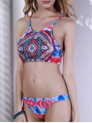 Stylish Tribal Print Women's Bikini Set