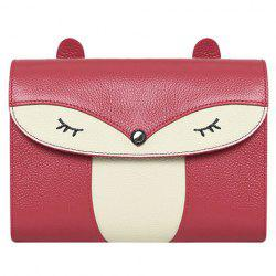 Casual Cover and Color Block Design Crossbody Bag For Women - WINE RED