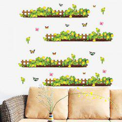 Fashion Plants Fence Pattern Baseboard Wall Sticker For Bedroom Livingroom Decoration - COLORMIX