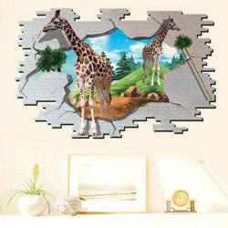 3D Giraffe Animal Broken Wall Stickers For Kids Room