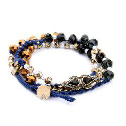 Vintage Faux Crystal Beads Bracelet For Women