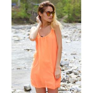 Stylish Strappy Hollow Out Racerback Chiffon Dress For Women -