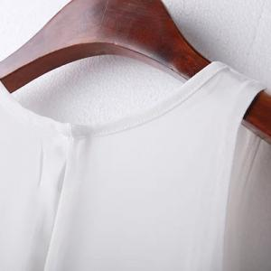 Simple Design Solid Color Jewel Neck Sleeveless Dress For Women -