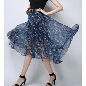 Floral Swing See Thru Skirt -