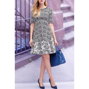 Printed Flare Dress -