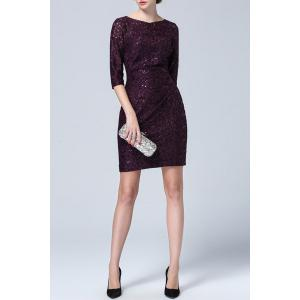 Pleated Sequin Dress -