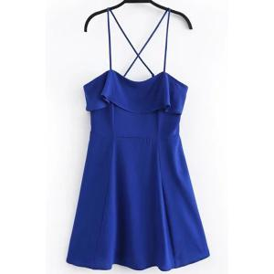 Spaghetti Strap Criss Cross Overlay Dress