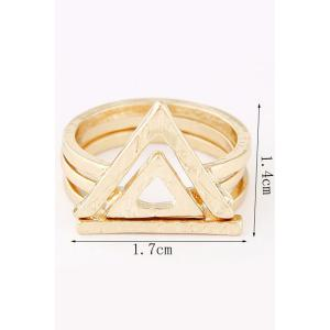 Chic Double Hollow Triangle Rings -