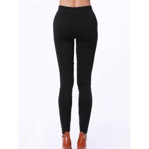 Stylish Solid Color Hollow Out High Elasticity Slimming Women's Leggings -