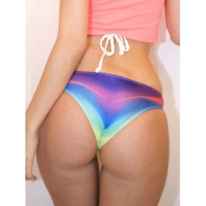 Stylish Low Waist Tie Dye Bikini Briefs For Women -