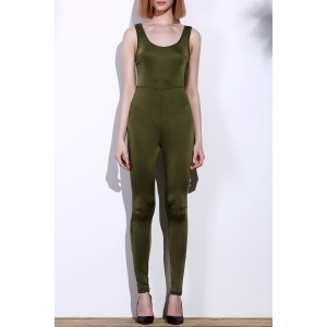 Scoop Neck Skinny Sleeveless Jumpsuit