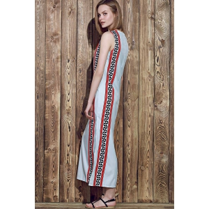 Slit Maxi Printed Boho Dress for Summer - COLORMIX S