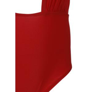 Alluring Halterneck Red One-Piece Swimsuit For Women -