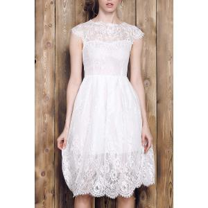 Lace Short A Line Prom Dress