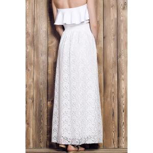 Maxi Floral Lace Skirt -
