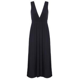 Maxi Plunge Backless Cocktail Dress