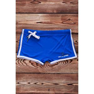 Lace Up Solid Color Sexy Sports Style Men's Swimming Trunks